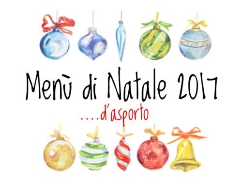 Menù di Natale …d'asporto 2017